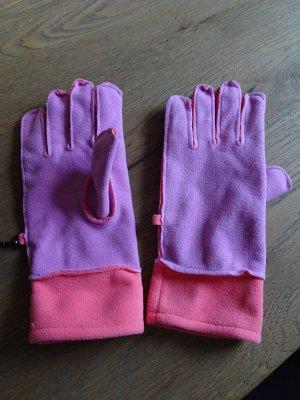 Unbekannte Marke Guanto con dita albicocca-rosa