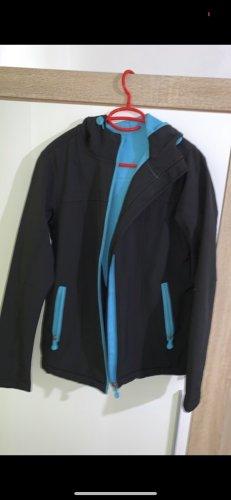 Softshelljack zwart-blauw