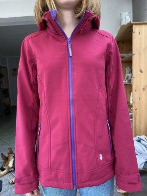 Weather Gear Chaqueta softshell violeta oscuro-rojo frambuesa
