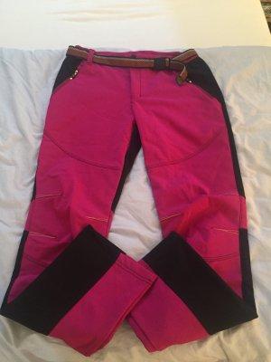 Thermal Trousers black-magenta