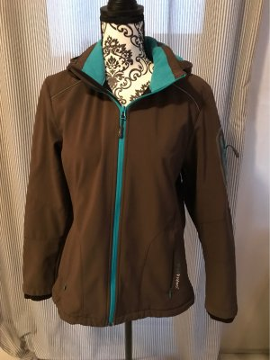 CMP Softshell Jacket brown-turquoise