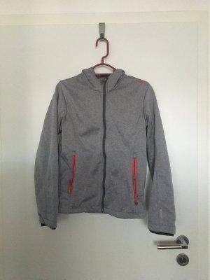 CMP Softshell Jacket light grey-red