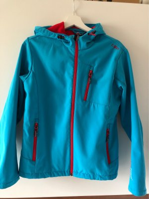 CMP Softshell Jacket red-neon blue