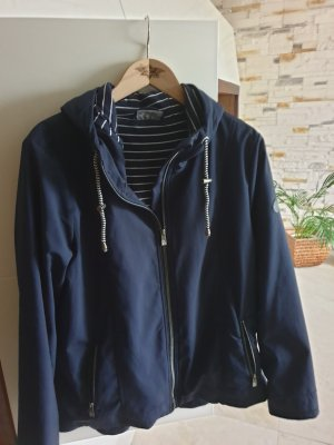 Softshell Jacket white-dark blue
