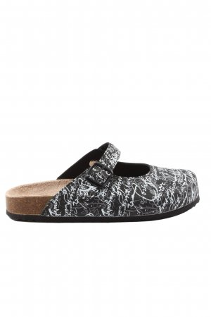 Softwaves Comfort Sandals black-white printed lettering casual look