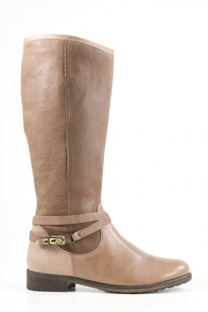 Softwaves Botas estilo militar color oro look casual