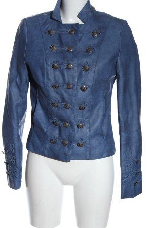Softy Kurtka z imitacji skóry niebieski Elegancki