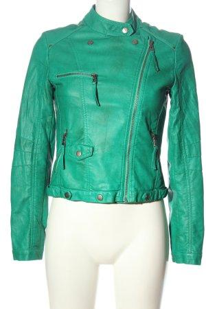 Softy Kurtka z imitacji skóry zielony W stylu casual