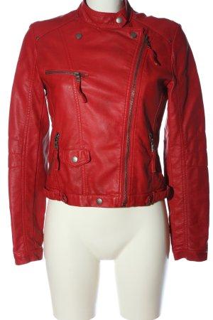 Softy Kurtka z imitacji skóry czerwony W stylu casual