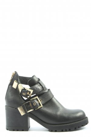 Soigne Cut Out Booties black casual look