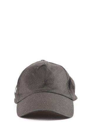 sois Cappello da panettiere nero-bianco Stampa a tema stile casual