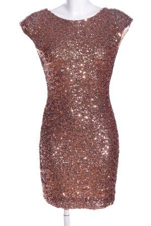 Soky & Soka Cocktailkleid bronzefarben Elegant