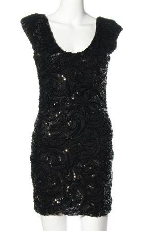 Soky & Soka Pailettenkleid schwarz Elegant