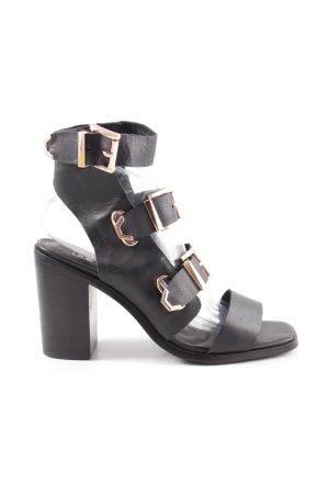Sol Sana Riemchen-Sandaletten schwarz Casual-Look