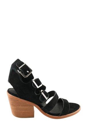 Sol Sana Riemchen-Sandaletten schwarz-braun Casual-Look