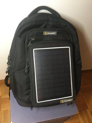 Solarrucksack SunnyBAG Explorer Schwarz mit integriertem Solarladegerät