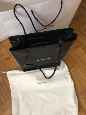 Balenciaga Shopper black-white leather