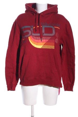Solid Jeans Kapuzensweatshirt rot Schriftzug gedruckt Casual-Look