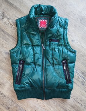 s.Oliver Quilted Gilet green-dark green