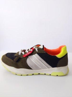 sOliver Sneaker • Größe 36• khaki/ schwarz • neon gelb/ orange
