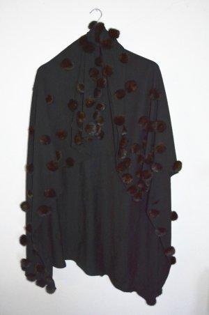 Solleciti Poncho negro-marrón-negro Pelaje