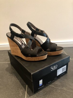 Solo soprani Wedge Sandals black-camel