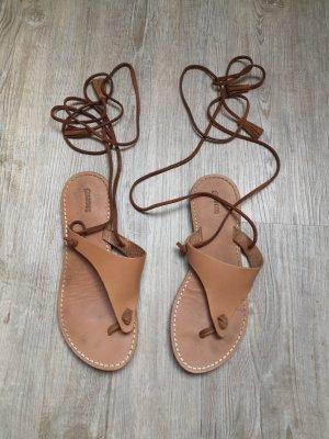 Soludos Flip Flops Schlappen Sandalen echt Leder braun