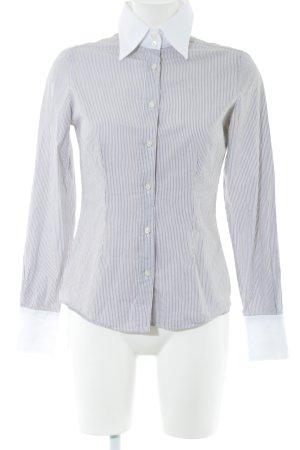 Soluzione Hemd-Bluse weiß-schwarz Streifenmuster Business-Look
