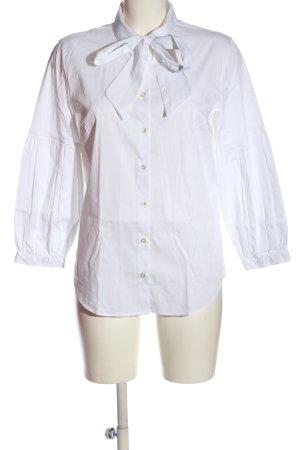 Soluzione Camicia blusa bianco Tessuto misto