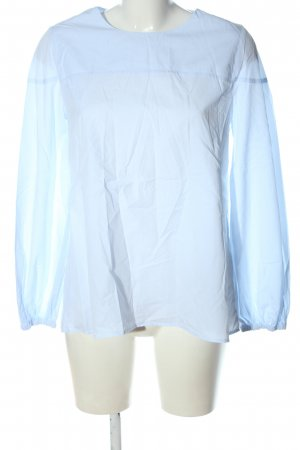 Soluzione Langarm-Bluse blau Casual-Look