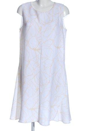 someday A-Linien Kleid weiß-hellorange abstraktes Muster Casual-Look