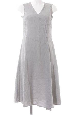 someday A-Linien Kleid schwarz-weiß Streifenmuster Casual-Look