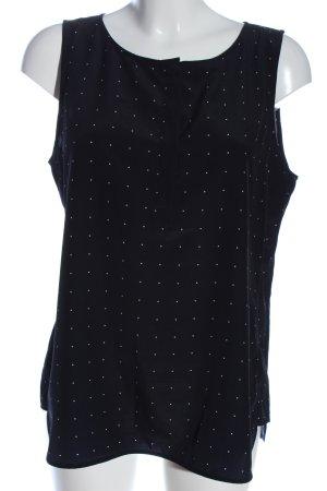 someday ärmellose Bluse schwarz-weiß abstraktes Muster Casual-Look