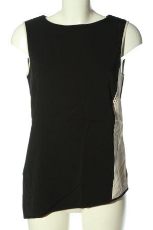 someday ärmellose Bluse schwarz-weiß Casual-Look