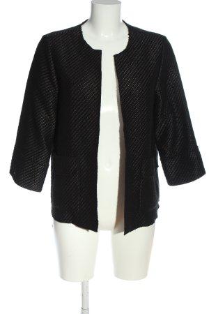 someday Cardigan schwarz-silberfarben Streifenmuster Casual-Look