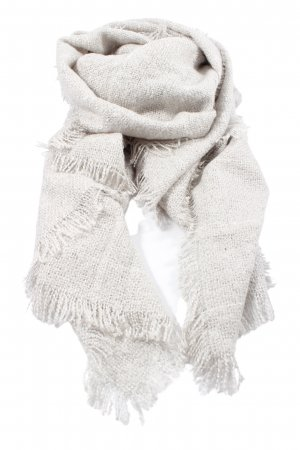 someday Fringed Scarf light grey casual look