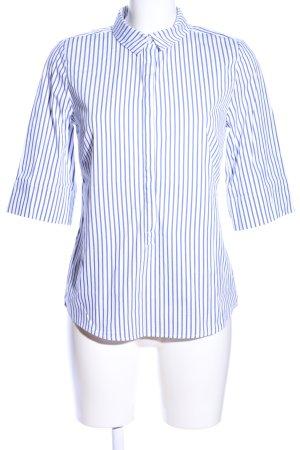 someday Hemd-Bluse weiß-blau Streifenmuster Casual-Look