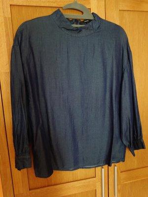 someday Blouse en jean bleu foncé
