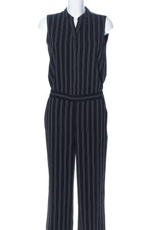 someday Jumpsuit schwarz-weiß Streifenmuster Casual-Look