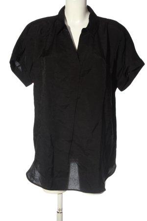 someday Kurzarm-Bluse schwarz Business-Look