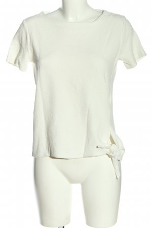 someday Kurzarm-Bluse weiß Casual-Look