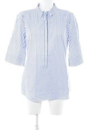 someday Kurzarm-Bluse blau-weiß Streifenmuster Casual-Look