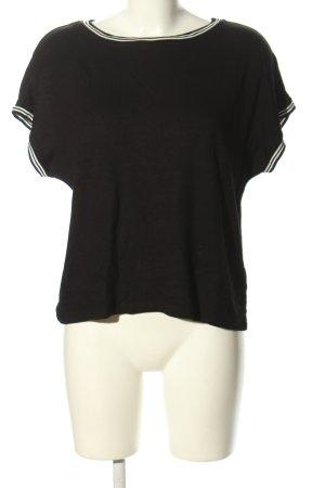 someday Sweter z krótkim rękawem czarny W stylu casual