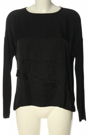 someday Langarm-Bluse schwarz Elegant