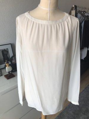 Someday Langarm Bluse aus Seide in Weiß