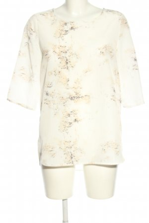 someday Long-Bluse wollweiß-creme abstraktes Muster Casual-Look