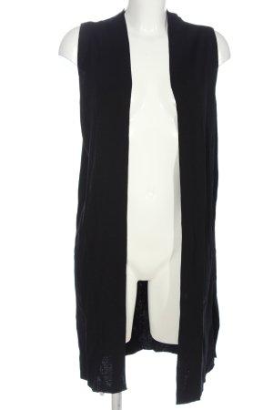 someday Gilet long tricoté noir style décontracté