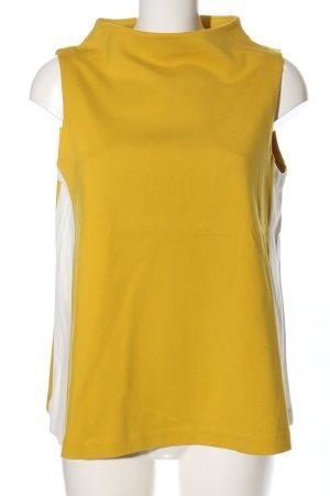 someday Top largo amarillo pálido-blanco puro look casual