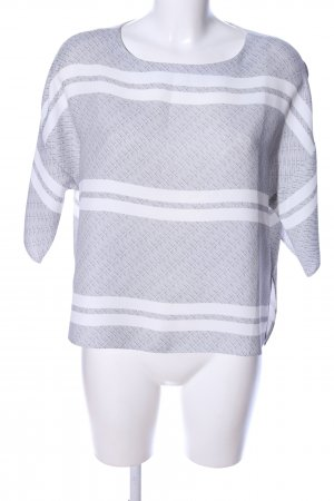 someday Oversized Bluse hellgrau-weiß Allover-Druck Casual-Look