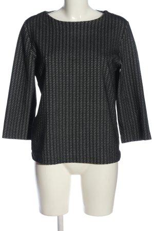 someday Oversized Pullover schwarz-weiß Allover-Druck Casual-Look